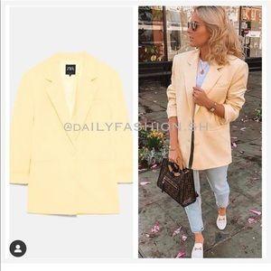 Zara yellow blazer, bloggers favorite
